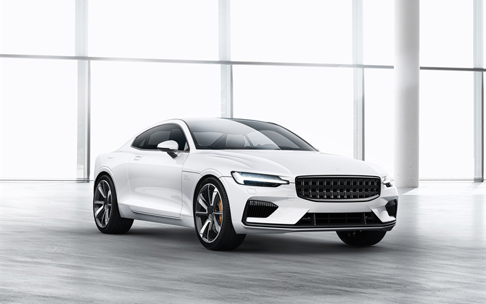 Download Wallpapers 2020 Polestar P1, 2018, Volvo S90 Coupe, White Sports  Car, Swedish Cars, Luxury Cars, Volvo