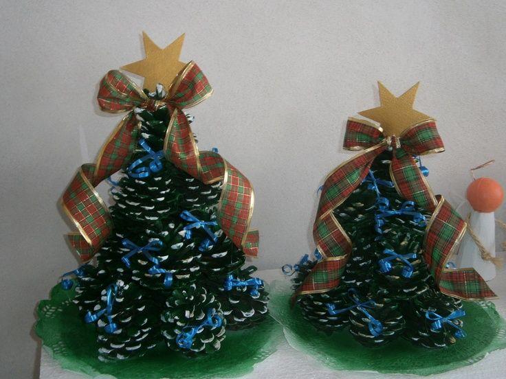 resultado de imagen para adornos navideos con cocos de pino - Adornos De Navidad Con Pias