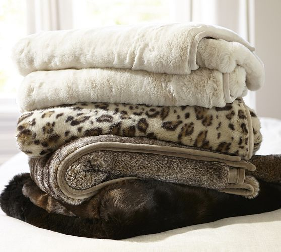Faux Fur Oversized Throw Amp Sham Leopard Pottery Barn