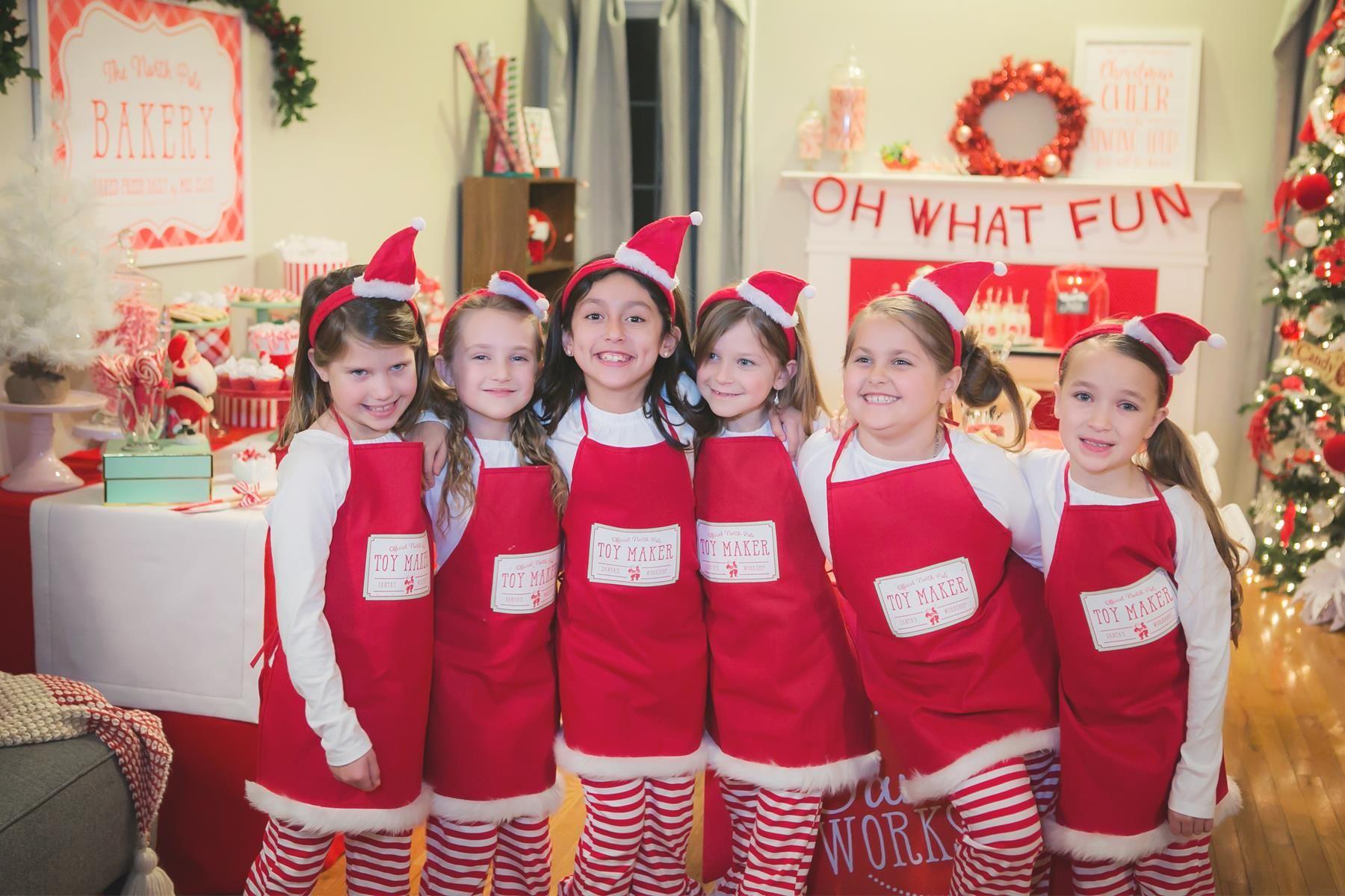 Santa\'s Workshop Party Ideas | homespun hostess | Santa\'s Workshop ...
