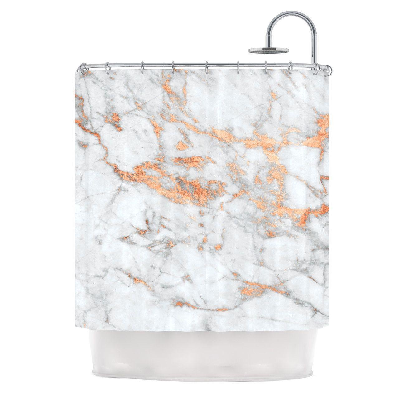 Oceanside Pink Shower Curtains Gold Bathroom Accessories Gold Bathroom