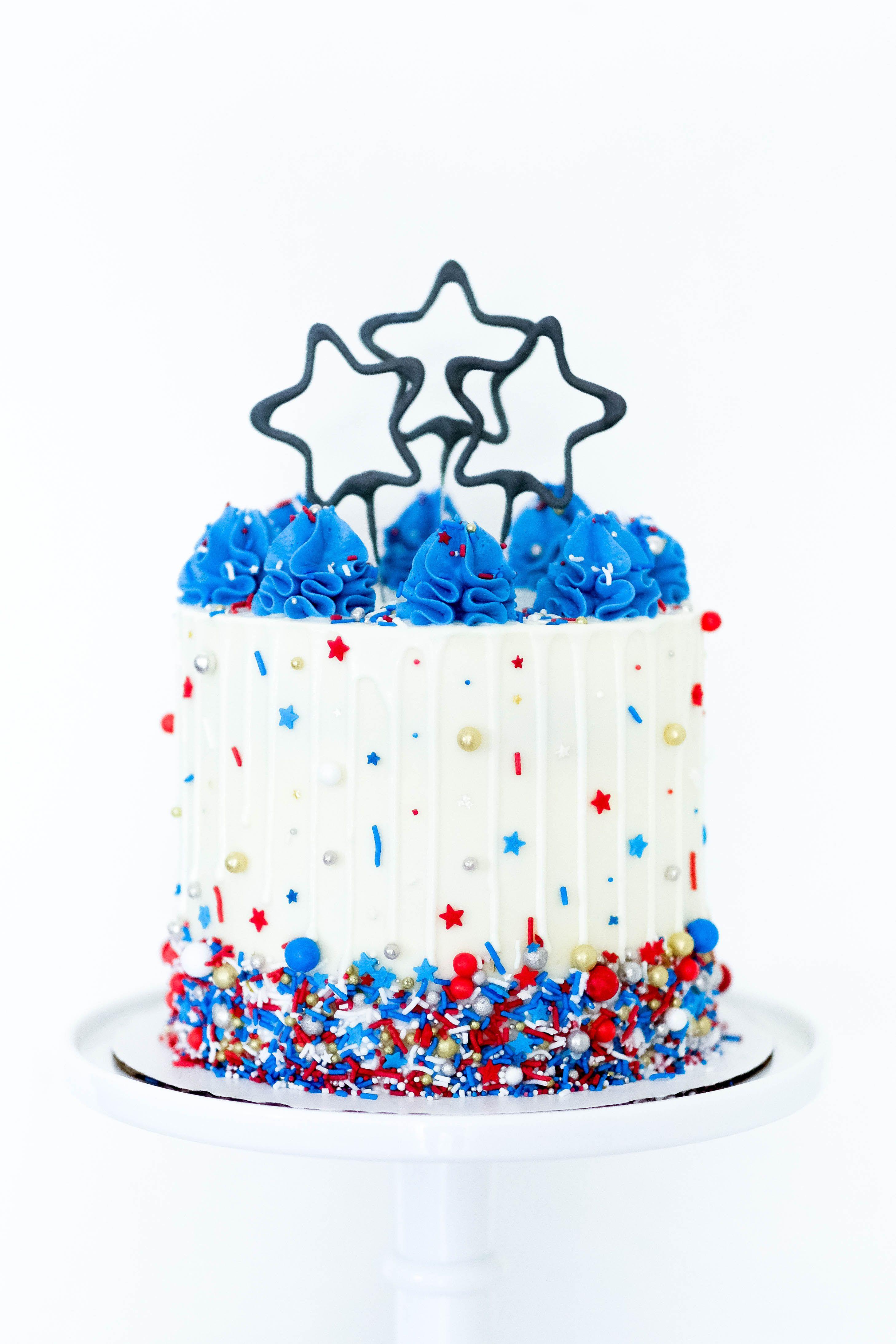 Tremendous Frostedfujicakes 4Th Of July Cake Sprinkle Cake Drip Cake Funny Birthday Cards Online Inifofree Goldxyz