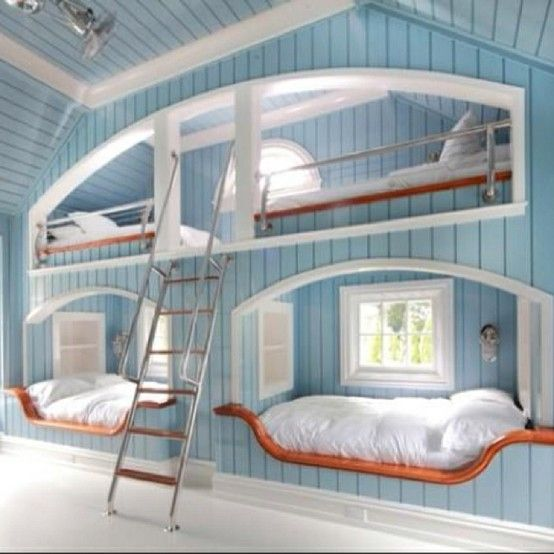 Crazy Beds Built In Bunks Awesome Bedrooms Bunk Room