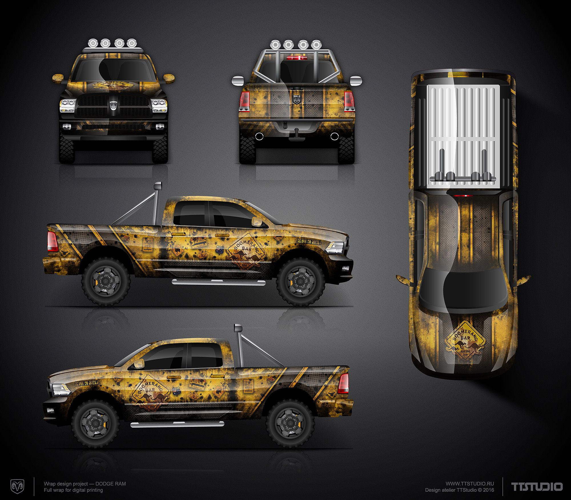 The commercial graphics wrap design project for Dodge Ram | Car wrap ...