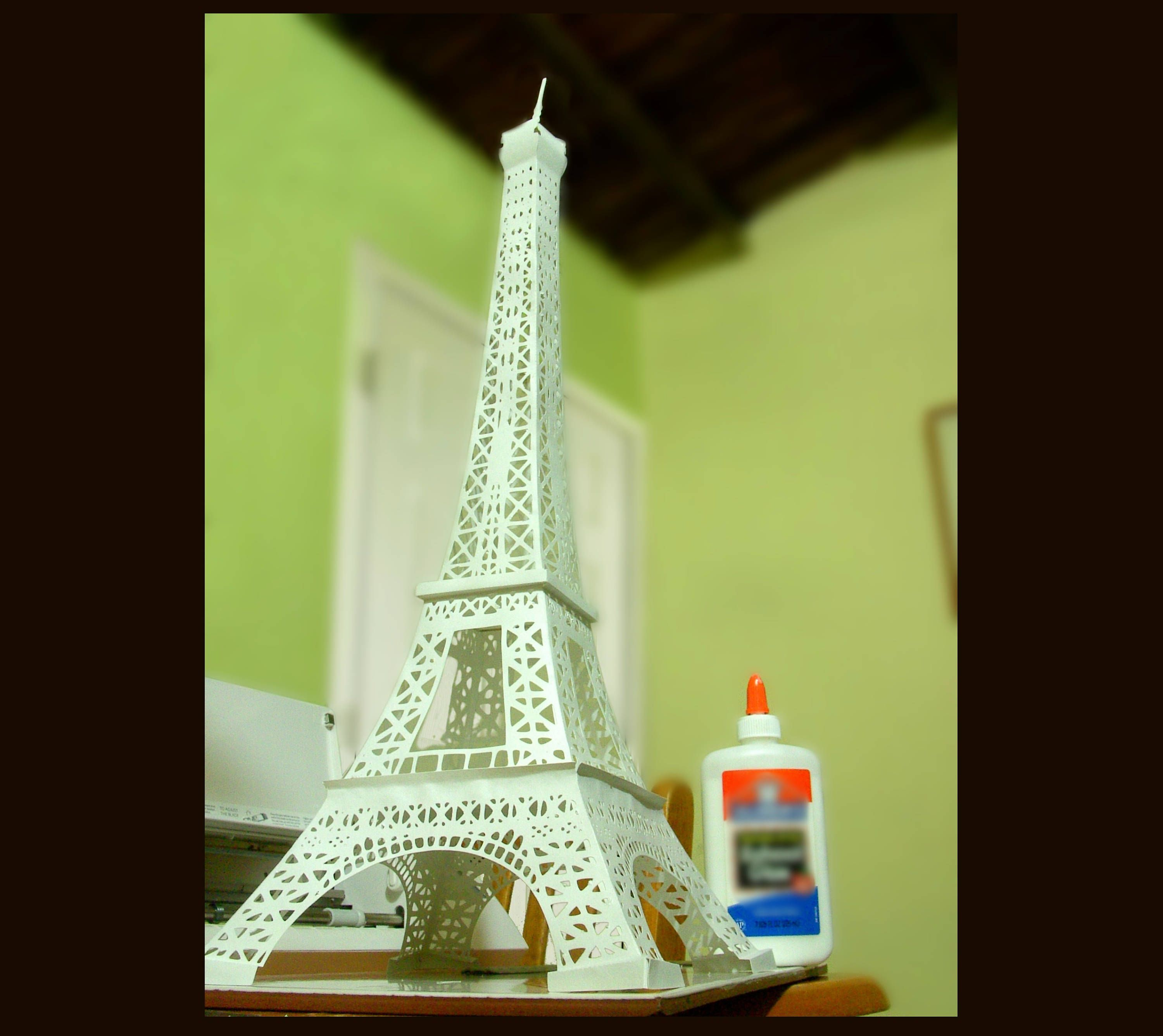 TOWER EIFFEL PARIS 3D Template cutting .svg, .dxf, .eps, .png ...