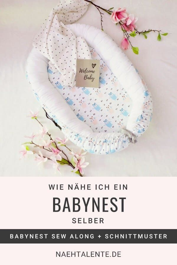Babynest nähen - Online Nähkurs gratis - auch für Anfänger | Nähtalente
