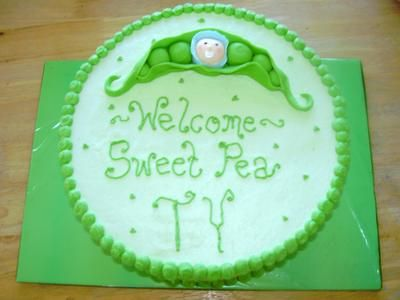 DIY Pea In A Pod Baby Shower Cake Ideas