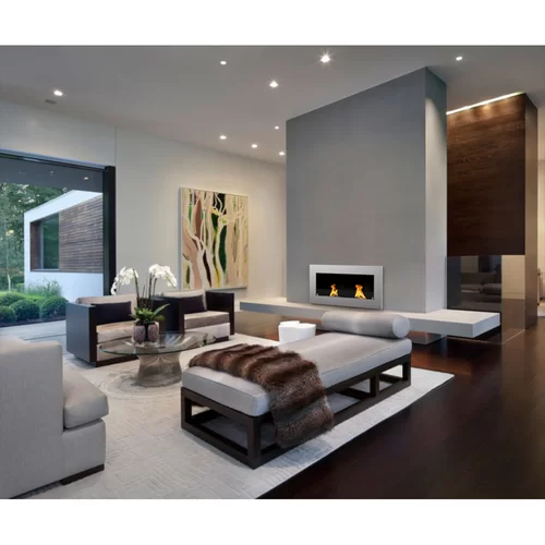 Modern House Interior Paint: Aron Wall Mounted Bio-Ethanol Fireplace