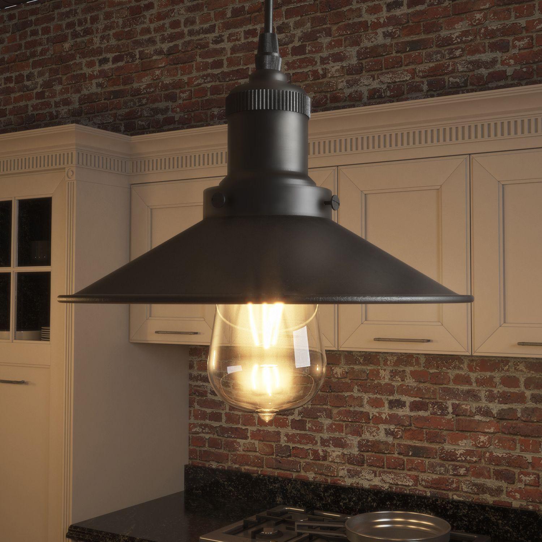Vonn lighting delphinus pendant with filament bulb in architectural