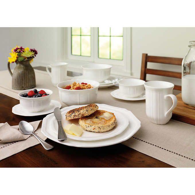 Costco Wholesale. White Dinnerware SetsVintage ...  sc 1 st  Pinterest & Mikasa Antique White 36-piece Dinnerware Set   USA MARKET ...