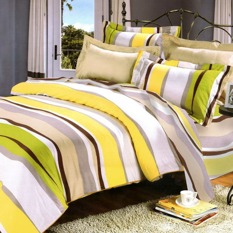 lime green u0026 yellow striped teen bedding twin full queen king duvet cover set boy or