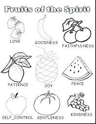Image Result For Fruits Of The Spirit Children Coloring Page