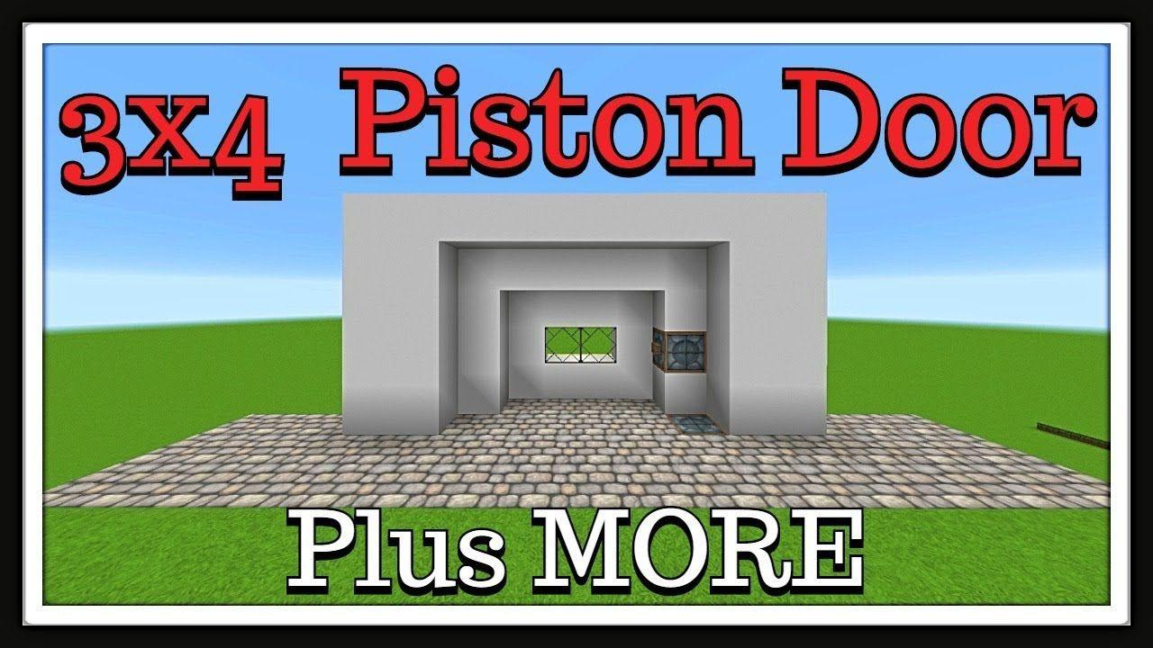 Minecraft tutorial  3x4 Piston Door (Security Features)  sc 1 st  Pinterest & Minecraft tutorial : 3x4 Piston Door (Security Features) | Minecraft ...