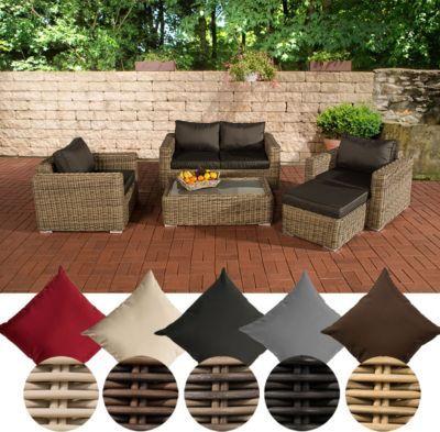Poly Rattan Lounge Set MADEIRA 2 1 1, 2 Er Sofa + 2 X Sessel + Hocker +  Tisch 110 X 33 X 60 Cm (BxHxT) Jetzt Bestellen Unter: ...
