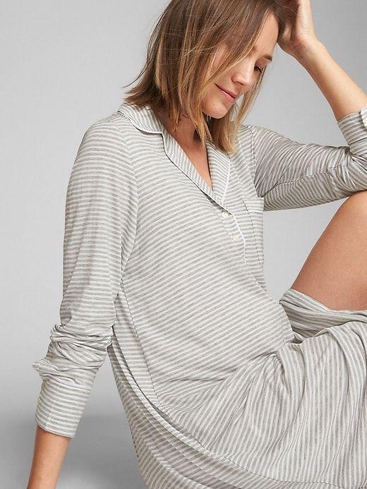 Maternity Print Sleep Shirt | Maternity pajamas, Maternity