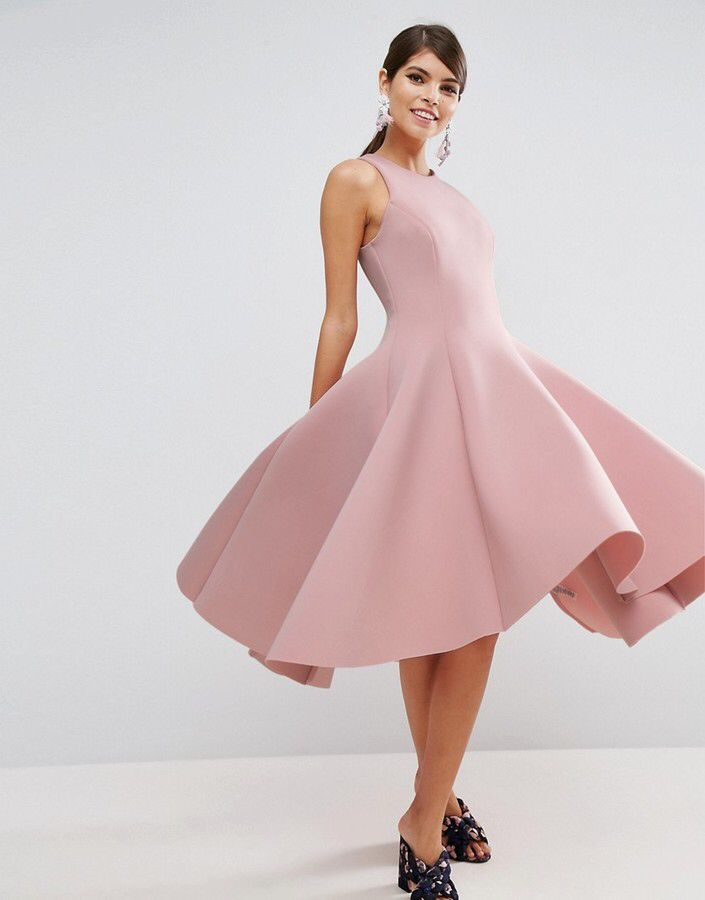 ASOS SALON Scuba Pinny Paneled Prom Midi Dress | FDiva | Pinterest ...