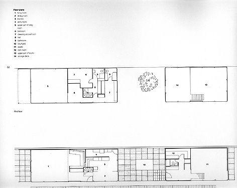 Eames House/Plans | Eames House - Architectonics project | Pinterest ...