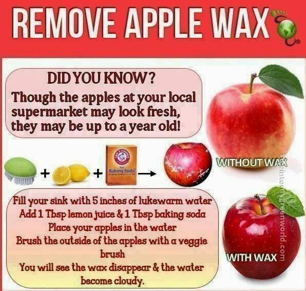 removing wax from apple