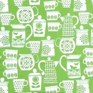 Michael-Miller-Retro-Put-A-Lid-On-It-Teapot-Fabric-New-Fat-Quarter-50cm-x-55cm
