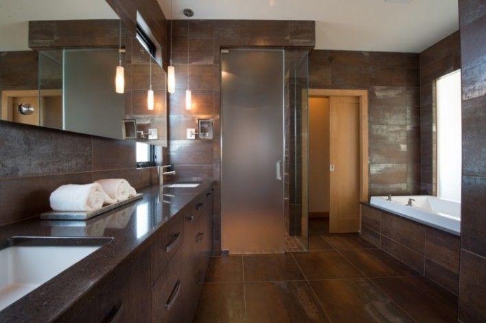 bathroom wall tiles brown di 2020