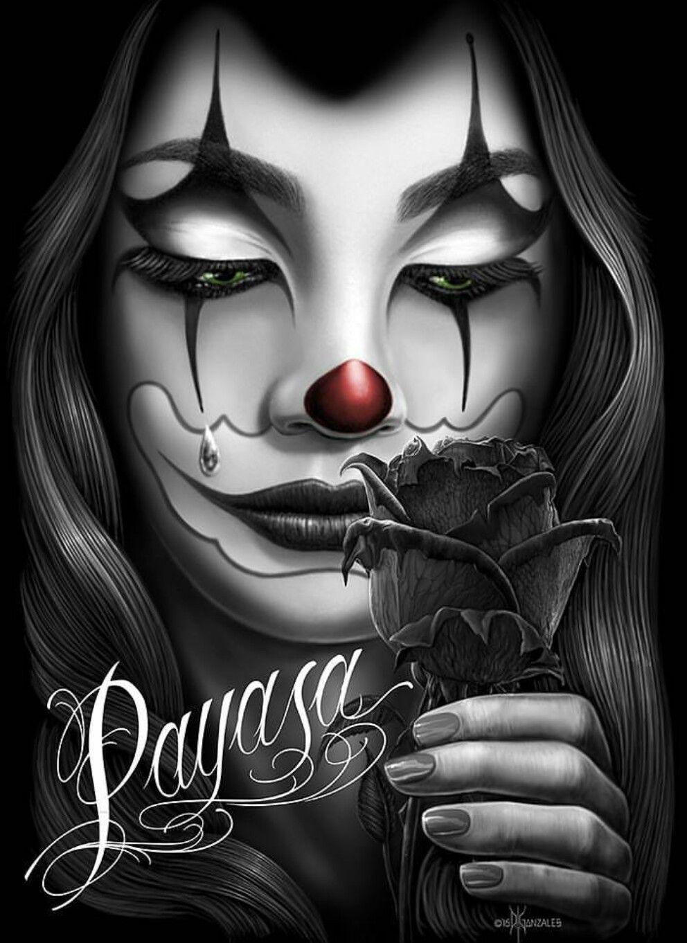 64a490a85ca03 Payasa Azteca Tattoo, Clown Posse, Sad Drawings, Chicano Art, Beautiful  Dolls,