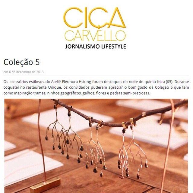 Quer saber um pouco mais sobre o lançamento de 5?Clica www.cicacarvello.com.br e veja todos os detalhes. @Ciça Carvello