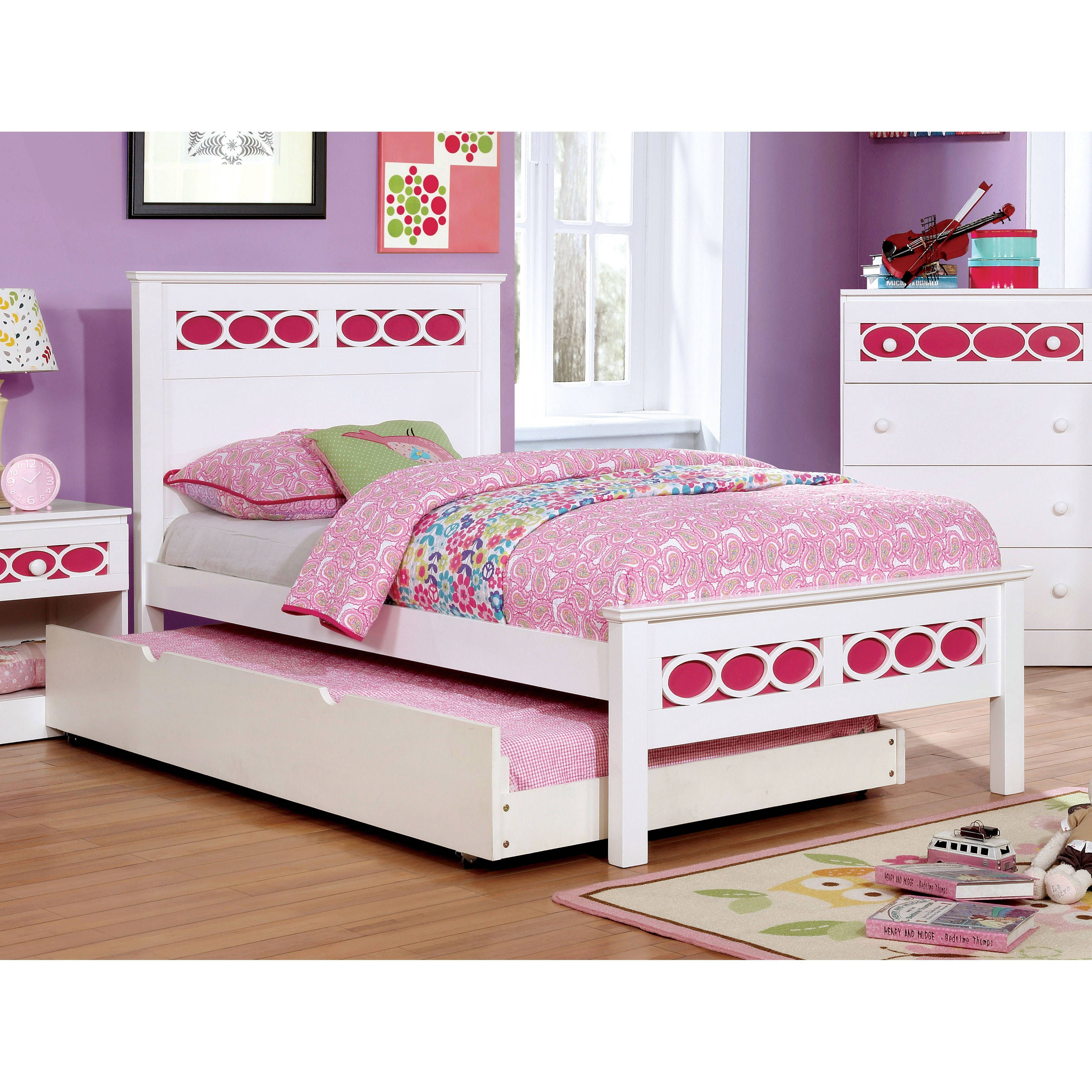 furniture of america circle contemporary two tone twin size platform