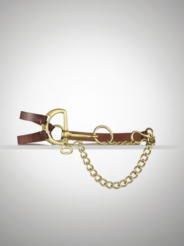 2375d5904d Ralph Lauren Tri-Strap Leather   Chain Belt Price  A complementing mix of  fine leather straps and antiqued