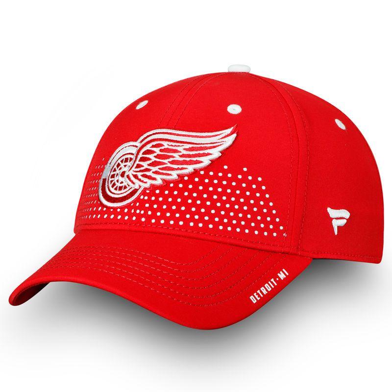 c34b9378bb4 Detroit Red Wings Fanatics Branded 2018 Draft Flex Hat– Red ...