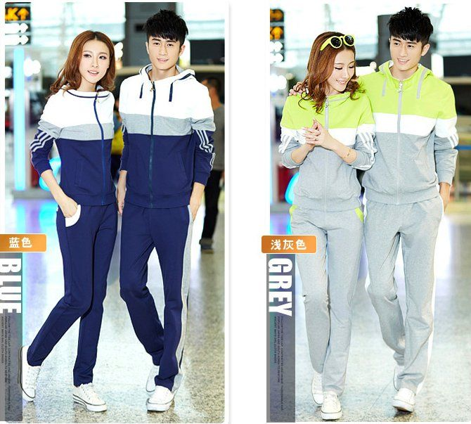 CC00481 Casual sports sportswear long sleeve couples sets