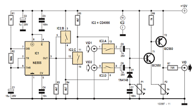 simple intercom schematic with lm386 circuit diagram