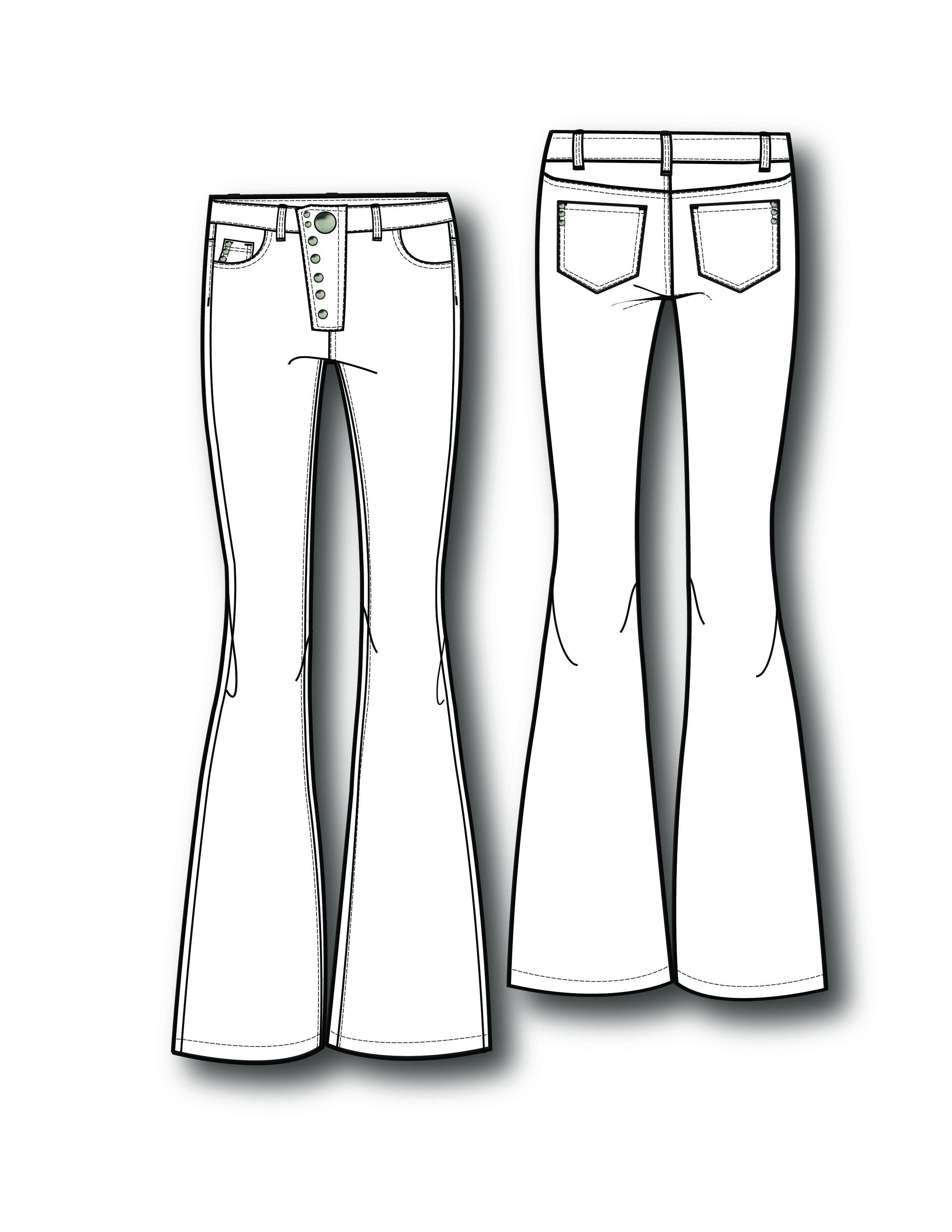 арабское, джинсы технический рисунок официальную
