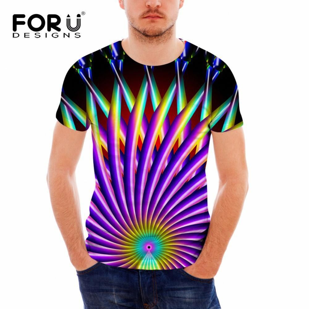 FORUDESIGNS Hot Summer T Shirt Men s Casual Tee Tops Fashion 3D Pattern Short  Sleeved Tees Fitness Male T-shirt Clothes Tops  menst-shirtspattern 2a687eb50332a