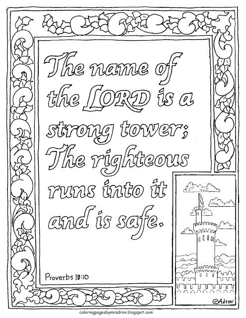Coloring Pages For Kids By Mr Adron Proverbs 18 10
