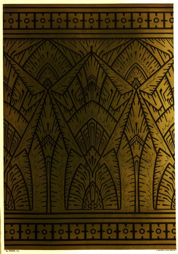Design by Dr. Christopher Dresser circa 1876 - inspired by window frost drawings by the artist