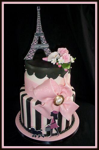 Eiffel Tower cake my 16th birthday Everything I was too lazy