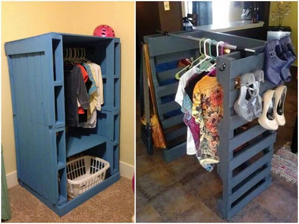 Good idea for a room with no closet but it would probably - Room with no closet ...