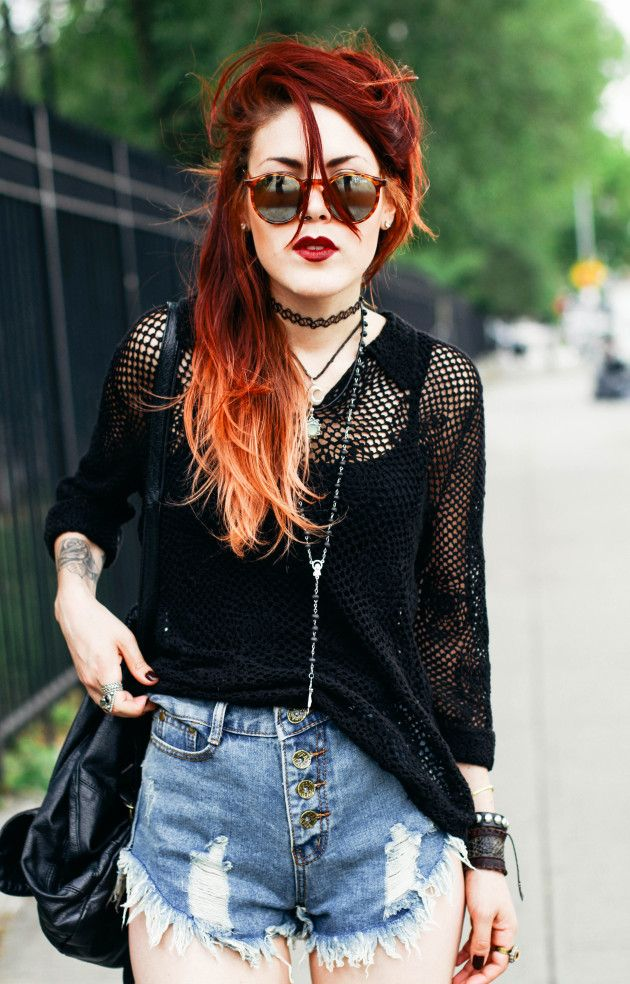 #red #jean #crochet #smile