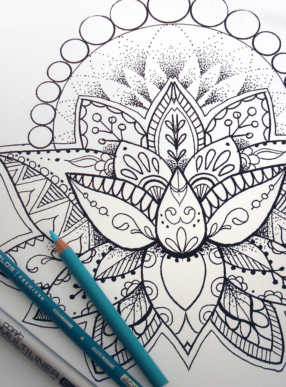 Henna Lotus Adult Coloring Page Download Lotus Adult coloring and