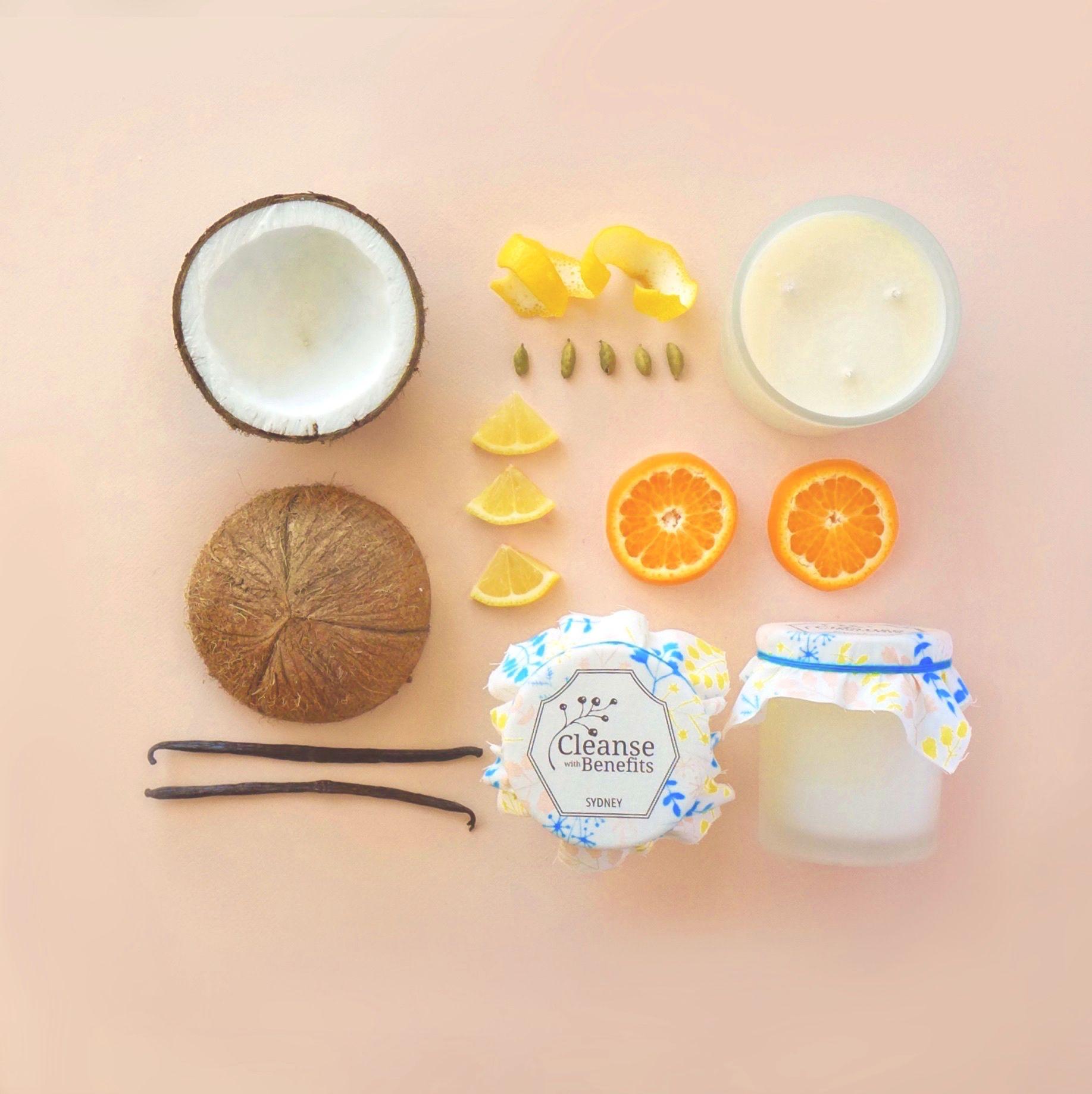 Coconut & Mandarin :: Coconut Wax Candle :: A Tropical