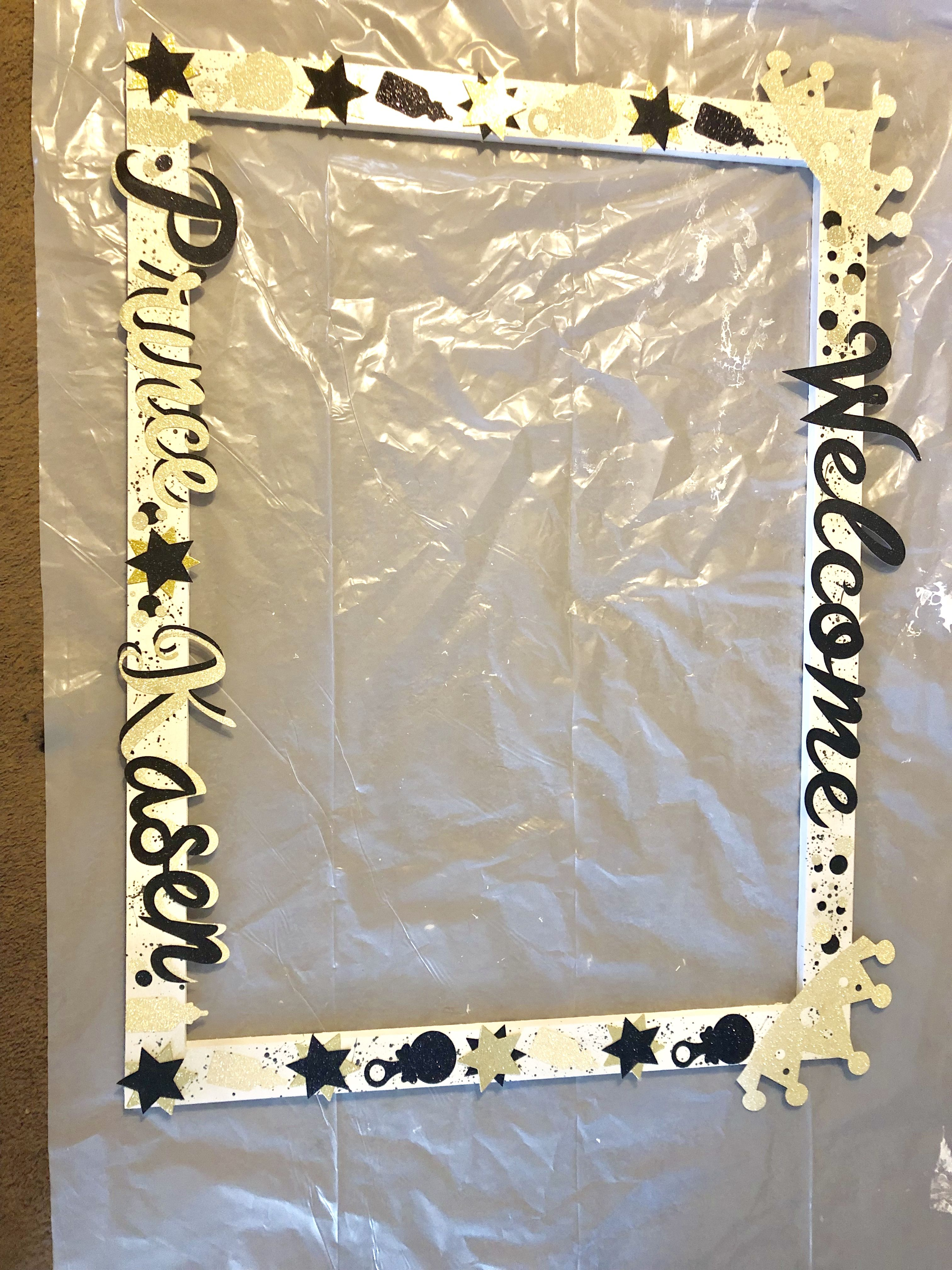 How To Make A Photo Frame Prop For Baby Shower : photo, frame, shower, Photo, Frame, Loved, Making, Shower, Prop,, Cricut, Creations,