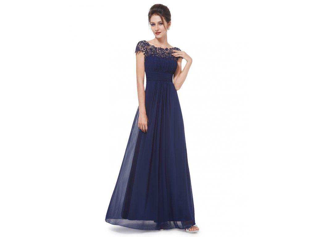 Ever Pretty plesové šaty s krajkou tmavě modré 9993. Do společnosti i  večerní 9a4bf6d445