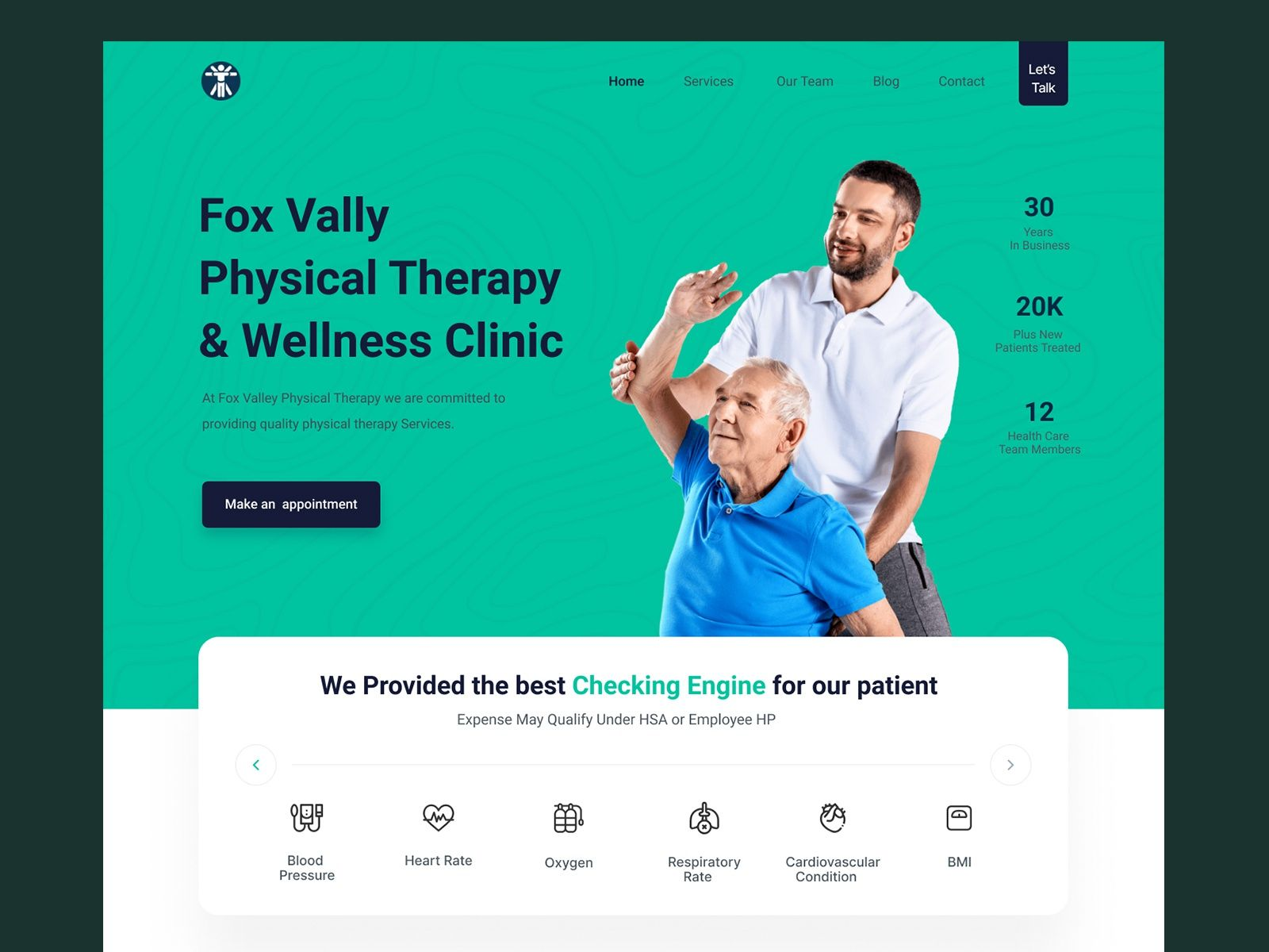 Fox Vally Physical Therapy Wellness Clinic In 2020 Web Design Wellness Clinic Physical Therapy