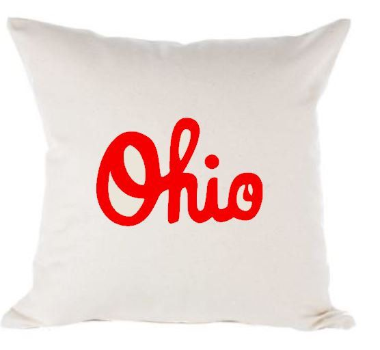 Ohio State Buckeyes Script Pillow Cover 16x16 By