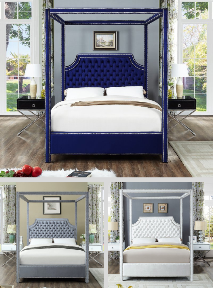 Emet Upholstered Canopy Bed By Rosdorf Park Bed Headboard And Footboard Upholstered Headboard
