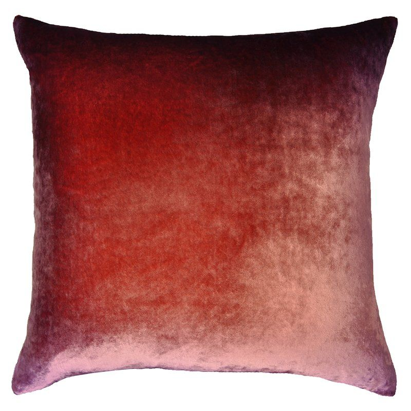 Ombre Velvet Down Throw Pillow With Images Ombre Velvet Throw Pillows Velvet Decorative Pillow