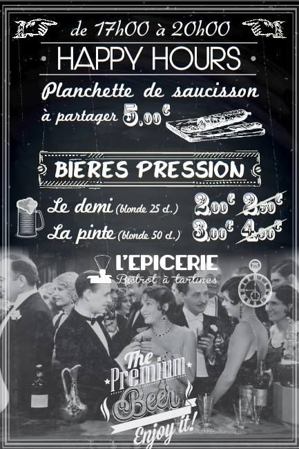 Bistrot ♦ L'épicerie, bar à tartines, Lyon (France)