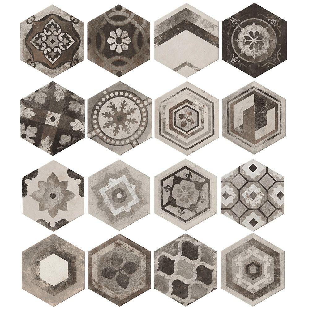 Carrelage Hexagonal Imitation Carreaux De Ciment Aux Nuances
