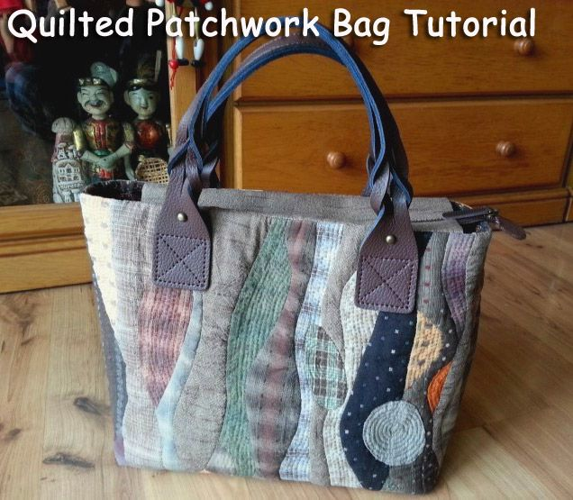 Patchwork bag, pattern - quilt. ???????? ?????. Quilted Patchwork Bag Tutorial. ???? ????? ? ...