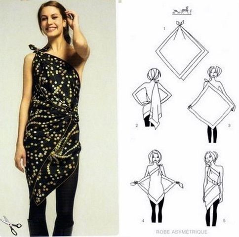 how to make a scarf into a top